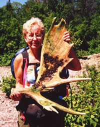 Moose shovel found by Mary Powell of Flint